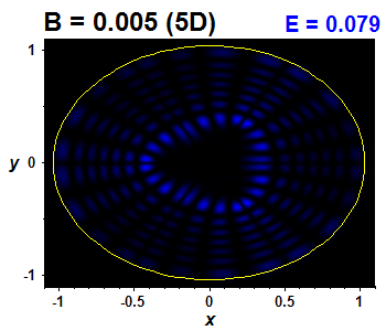 Wave function B=0.005,E(52)=0.07934 (báze 5D)